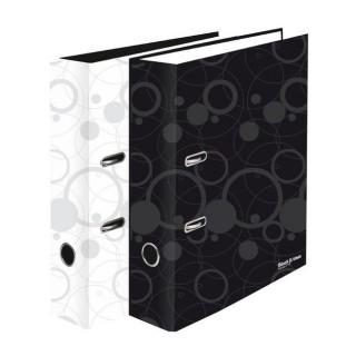 Ordner Black and White DIN A4 7cm weiß