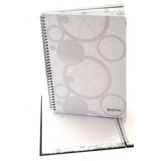 Collegeblock Black and White DIN A4 70 Blatt liniert weiß
