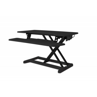 BAKKER ELKHUIZEN Steh-Sitz-Schreibtischaufsatz schwarz