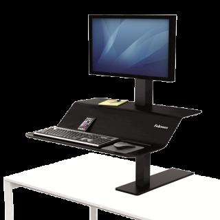 FELLOWES Sitz-Steh Workstation Lotus™ VE für einen Monitor schwarz