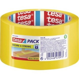 TESA Paketband Secure & Strong 50 mm x 50 m gelb