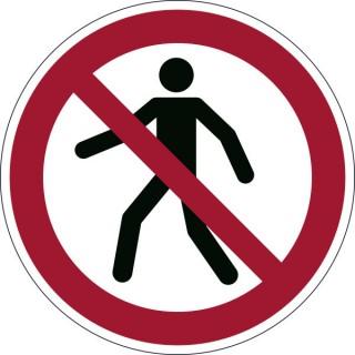 DURABLE Sicherheitskennzeichen 1732 Für Fußgänger verboten rot