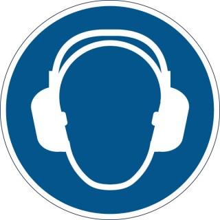 DURABLE Sicherheitskennzeichen 1729 Gehörschutz benutzen blau