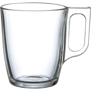 Becher Nuevo mit Henkel 250 ml transparent