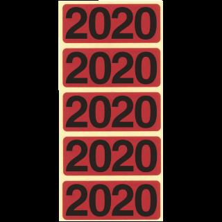 """BENE Jahresschild 92020 100 Stück """"2020"""" rot"""