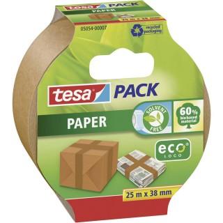 TESA Verpackungsklebeband ecoLogo Papier 38mm x 25m braun