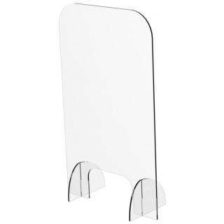 ARISTO Spuckschutz aus Plexiglas hoch/schmal 50 x 84,1 x 22,5 cm transparent