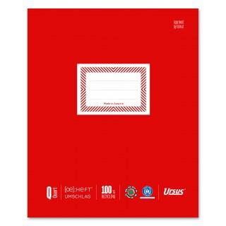 URSUS Heftschoner 10 Stück Quartformat rot