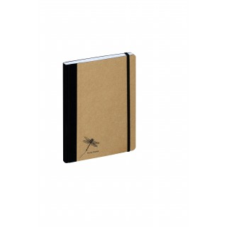PAGNA Notizbuch Pur 26067 DIN A5 192 Blatt kariert naturbraun