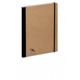 PAGNA Notizbuch Pur 26077 DIN A4 192 Blatt kariert naturbraun