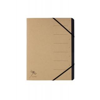 PAGNA Ordnungsmappe Pur 40060 DIN A4 7 Fächer mit Organisationsdruck 1-7 naturbraun