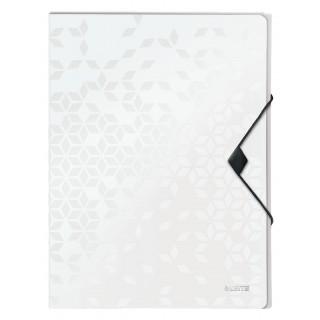 LEITZ Ablagebox WOW 4629 mit Gummiverschluss aus Polypropylen 250 x 30 x 330 mm weiß
