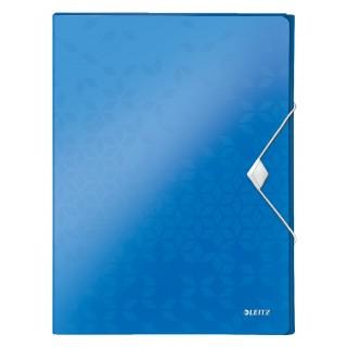 LEITZ Ablagebox WOW 4629 mit Gummiverschluss aus Polypropylen 250 x 30 x 330 mm blau