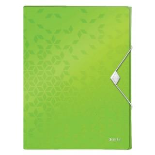 LEITZ Ablagebox WOW 4629 mit Gummiverschluss aus Polypropylen 250 x 30 x 330 mm grün