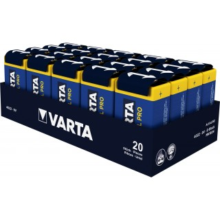 VARTA Batterie Industrial Pro 20 Stück 9V
