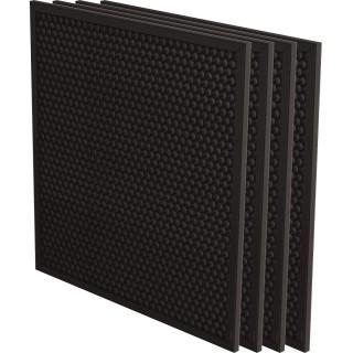 FELLOWES Aktivkohlefilter AeraMAX 4 Stück für AeraMAX Pro III und AeraMAX Pro IV schwarz