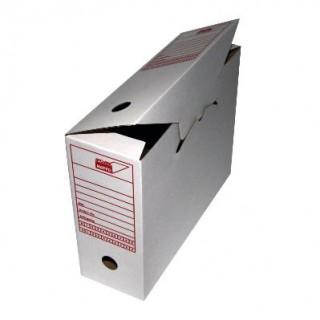 MAPPEI Archivschachtel 314166 DIN A4 vertikal mit Organisationsaufdruck weiß