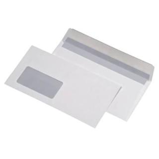 MAILMEDIA Fensterkuvert 1.000 Stück DIN C5/6 mit Abziehstreifen weiß
