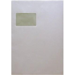 MAILMEDIA Versandtasche 250 Stück DIN C4 mit Fenster selbstklebend weiß