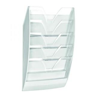 CEP Wandprospekthalter DIN A4 5 Fächer transparent
