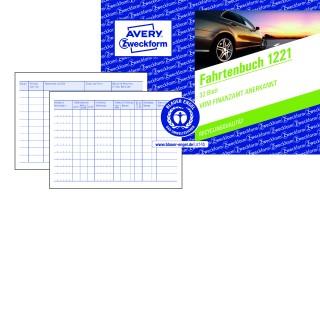 AVERY ZWECKFORM Fahrtenbuch 1221 DIN A6 quer 32 Blatt ohne Durchschlag