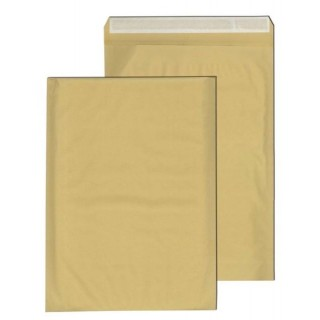 Papierpolstertasche 75 Stück Größe I (295 x 445 mm) mit Abziehstreifen ohne Fenster braun