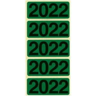 """BENE Jahresschild 92022 100 Stück """"2022"""" selbstklebend grün"""
