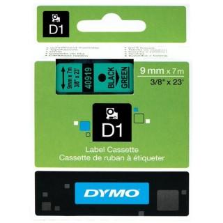 DYMO Beschriftungsband 9 mm x 7m schwarz/grün
