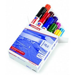 EDDING Permanentmarker 500 Keilspitze 2-7 mm 10 Farben sortiert