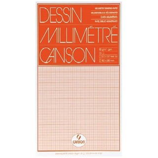 CANSON Millimeterpapierblock 67501 A4 50 Blatt 80 g/m² orange