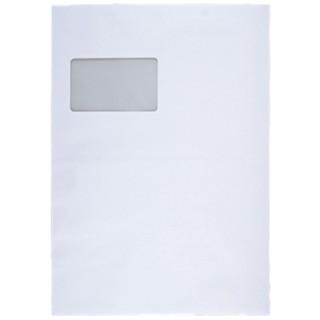GREENSTAR Faltentasche 3002448 10 Stück C4 mit Fenster weiß