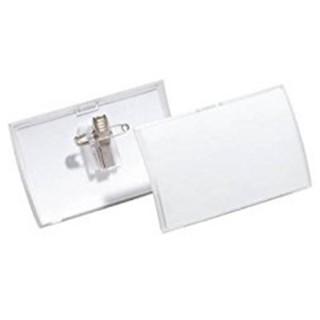 DURABLE Namensschild 8214 Kombiklammer  5,4 x 9,0 cm 25 Stück transparent