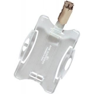 DURABLE Ausweishalter mit Clip 25 Stück transparent