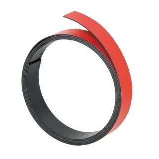 FRANKEN Magnetband 10 mm x 1 m rot