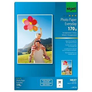SIGEL Fotopapier IP714 A4 50 Blatt 170 g/m² hochglänzend weiß
