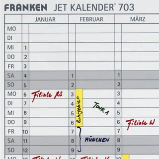 FRANKEN Datumsstreifen DS703A 14 x 42 cm selbstklebend transparent