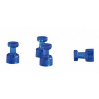 FRANKEN Magnet HMH1803 4 Stück 18 x 11 mm für Memos dunkelblau
