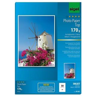 SIGEL Fotopapier IP601 A4 50 Blatt 170 g/m² hochgänzend weiß