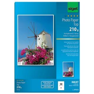 SIGEL Fotopapier IP612 A4 50 Blatt 210 g/m² hochglänzend weiß