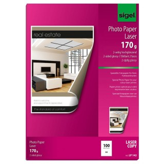 SIGEL Fotopapier LP142 A4 100 Blatt 170 g/m² hochglänzend weiß