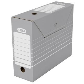 ELBA Archivbox 27 x 34 cm 10 Stück grau/weiß