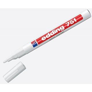 EDDING Lackmarker 751 Rundspitze 1-2 mm weiß