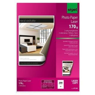 SIGEL Fotopapier LP342 DIN A4 100 Blatt 170g/m² weiß