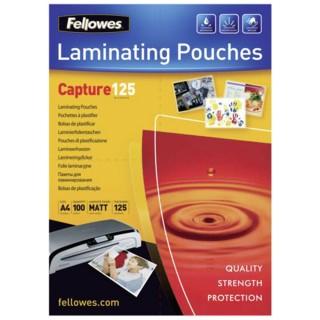 FELLOWES Laminierfolie A4 125 my 100 Stück matt transparent