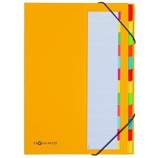 PAGNA Ordnungsmappe 44133-05 A4 12-teilig gelb