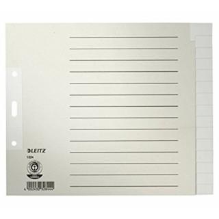LEITZ Register A4 Papier 15-teilig grau