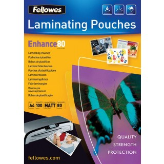 FELLOWES Laminierfolie 80 my 100 Stück matt