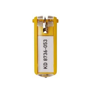 DURABLE Schlüsselanhänger KEY CLIP 6 Stück gelb