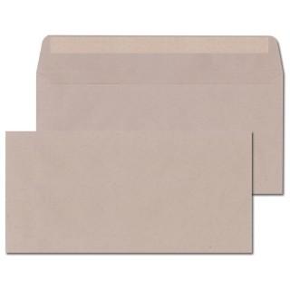 ÖKI Kuvert Natur C6/5-ÖF/U80 1000 Stück DIN C6/5 mit Haftstreifen 80 g/m² grau