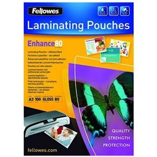 FELLOWES Laminierfolie A3 80 my 100 Stück glänzend transparent
